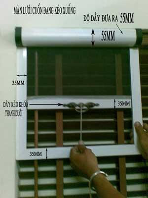 tuyệt chiêu làm sửa cửa lưới chống muỗi.